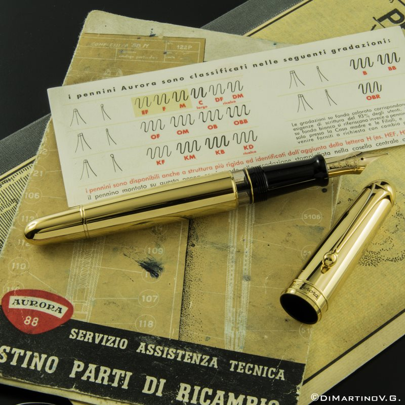 アウロラ 88th フレックスニブ 万年筆 ゴールド