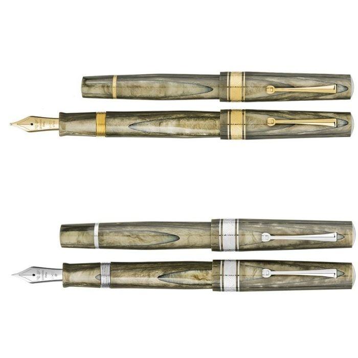 レオナルド 限定生産品 カスピド オリーブグリーン (ゴールド/ロジウムトリム) 万年筆