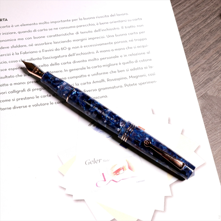 レオナルド モーメントゼロ2020 ソレントブルー 万年筆