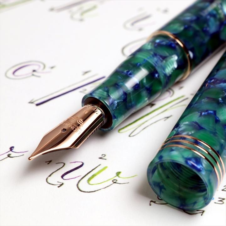 レオナルド モーメントゼロ2020 グリーンブルー 万年筆
