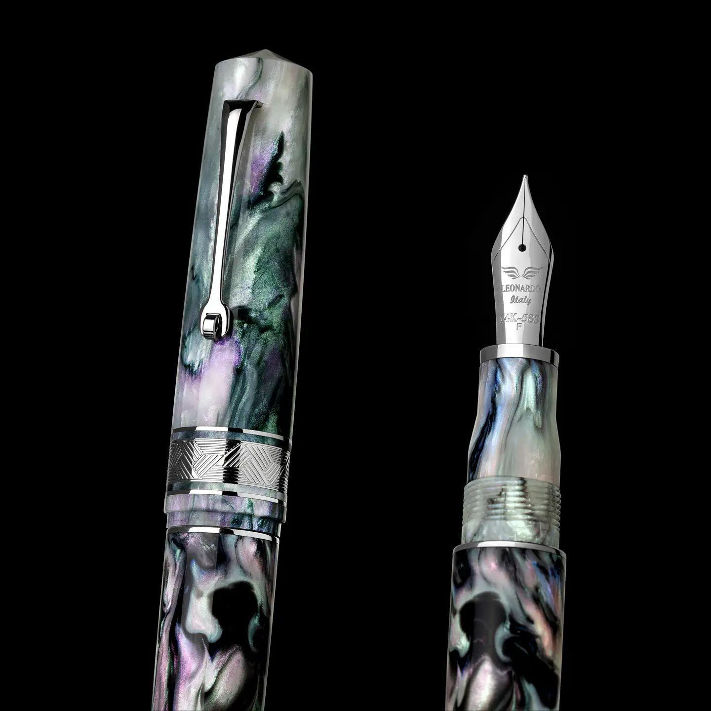 レオナルド 限定生産品 モーメントゼログランデ プライマリーマニピュレーション マザーオブパール ロジウムトリム 万年筆