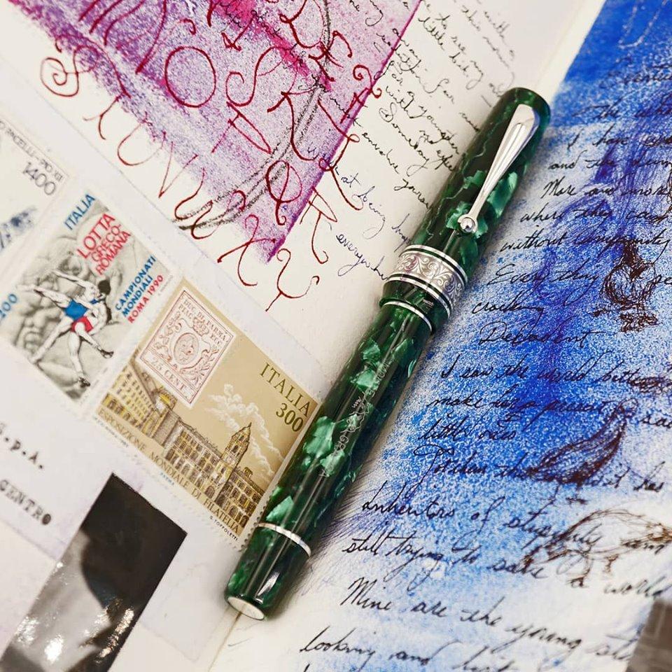 モンテグラッパ 限定生産品 アンミラーリョ1939 マラカイト 万年筆