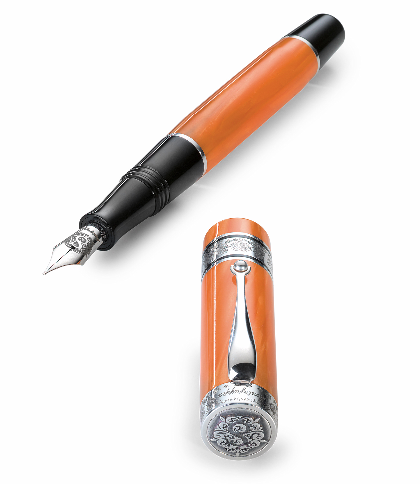 モンテグラッパ 限定生産品 ダッチェスオブヨーク (ヨーク公爵夫人) オータムリーフオレンジ 万年筆