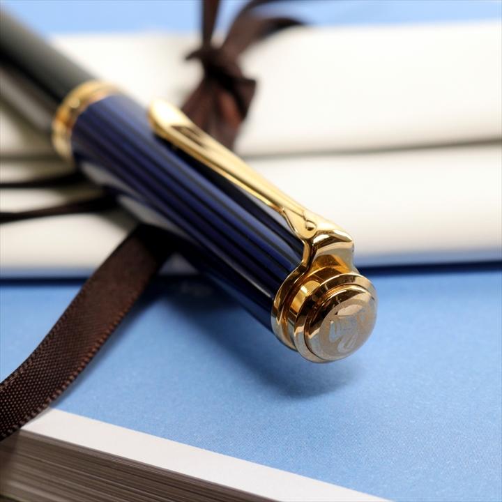 ペリカン スーベレーン K800 青縞 ボールペン