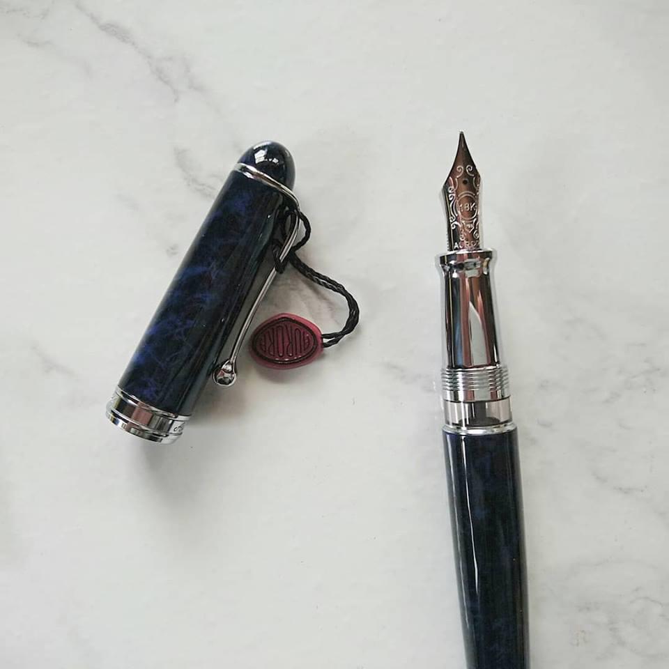 アウロラ シガロ ブルー 万年筆