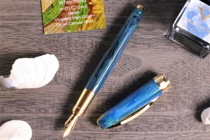 ビスコンティ 限定生産品 ヴァン・ゴッホコレクション カラスのいる麦畑 万年筆